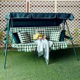 Тент для садовых качелей Зеленый, размер №5, Оксфорд
