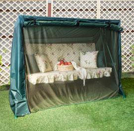 Чехол на качели с москитной сеткой Зеленый, размер №12, Оксфорд