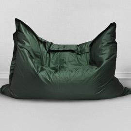 Кресло бескаркасное Большая подушка Темная зелень, оксфорд