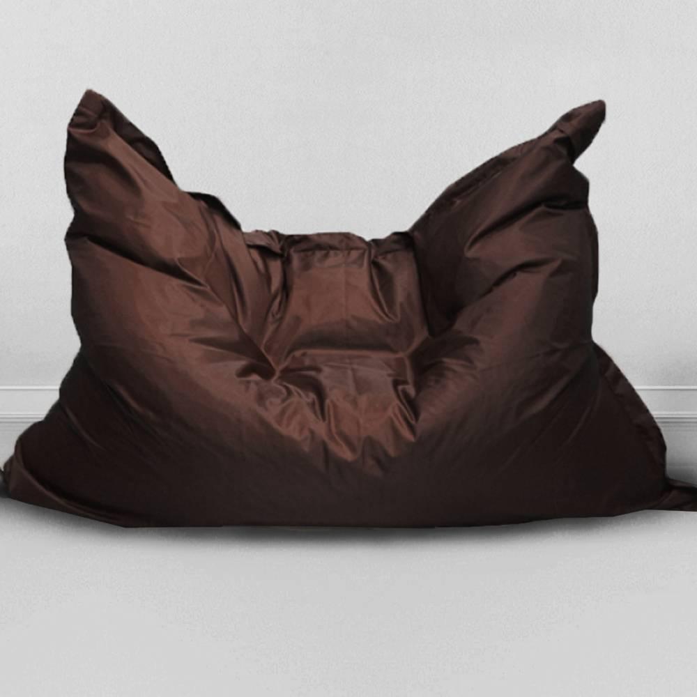 Кресло бескаркасное Большая подушка Шоколад, оксфорд
