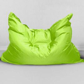 Кресло бескаркасное Большая подушка Лайм, оксфорд