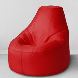 Кресло бескаркасное Люкс Красный, оксфорд
