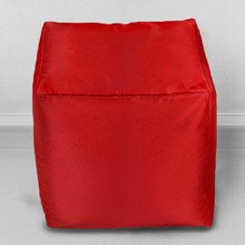 Пуфик бескаркасный Кубик Красный, оксфорд