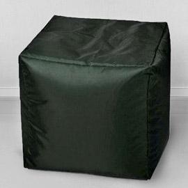 Пуфик бескаркасный Кубик Темная трава, оксфорд