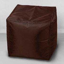 Пуфик бескаркасный Кубик Шоколад, оксфорд