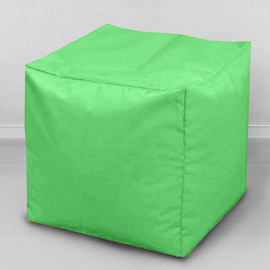 Пуфик бескаркасный Кубик Яблоко, оксфорд