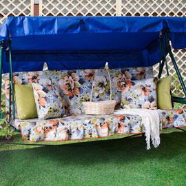 Матрас с 2-мя подушками на садовые качели Марта, поликоттон
