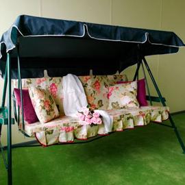 Матрас с 2-мя подушками на садовые качели Версаль, поликоттон