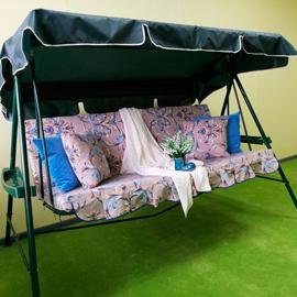 Матрас с 2-мя подушками на садовые качели Весна, поликоттон