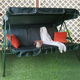 Матрас 3-секционный на садовые качели Зеленый, оксфорд