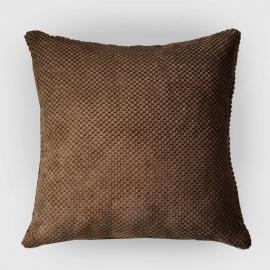 Декоративная подушка Какао объемный велюр
