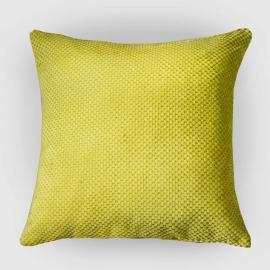 Декоративная подушка Салатовый объемный велюр