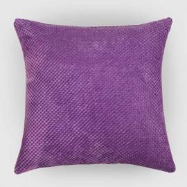 Декоративная подушка Сирень, объемный велюр