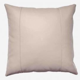 Декоративная подушка из экокожи, цв. Бежевый