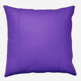 Декоративная подушка из экокожи, цв. Фиолетовый