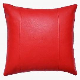 Декоративная подушка из экокожи, цв. Красный