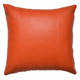 Декоративная подушка из экокожи, цв. Манго