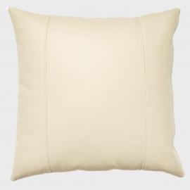Декоративная подушка из экокожи, цв. Молоко