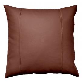 Декоративная подушка из экокожи, цв. Шоколадный