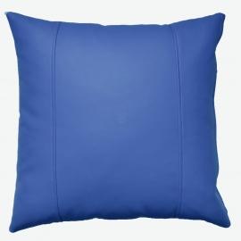 Декоративная подушка из экокожи, цв. Синий