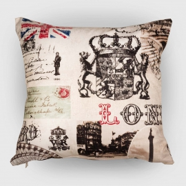 Декоративная подушка Лондон, мебельный хлопок