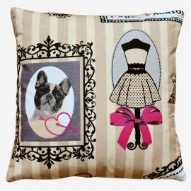 Декоративная подушка Париж фэшн, мебельный хлопок