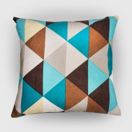 Декоративная подушка Ромб, мебельный хлопок
