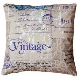 Декоративная подушка Винтаж, мебельный хлопок