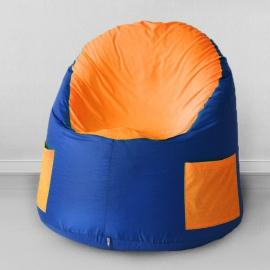 Кресло-мешок для улицы Емеля, Василек с оранжевым