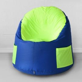 Кресло-мешок для улицы Емеля, Василек с салатовым