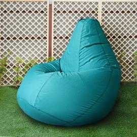 Кресло бескаркасное Груша Бирюза, размер Комфорт, оксфорд