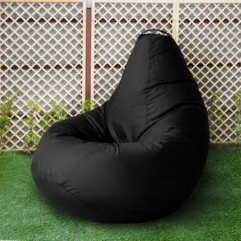 Кресло бескаркасное Груша Черный, размер Комфорт, оксфорд