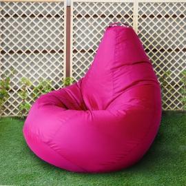 Кресло бескаркасное Груша Фуксия, размер Комфорт, оксфорд