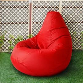 Кресло бескаркасное Груша Красный, размер Комфорт, оксфорд