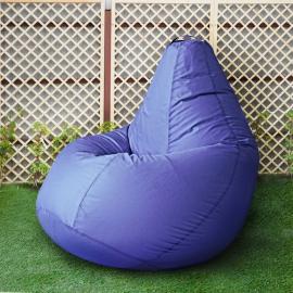 Кресло бескаркасное Груша Лаванда, размер Комфорт, оксфорд