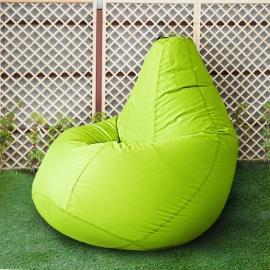 Кресло бескаркасное Груша Салатовый неон, размер Комфорт, оксфорд