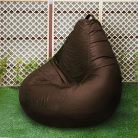 Кресло бескаркасное Груша Шоколад, размер Комфорт, оксфорд