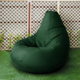 Кресло бескаркасное Груша Зеленый, размер Комфорт, оксфорд