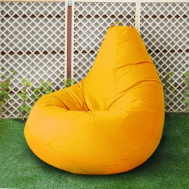 Кресло бескаркасное Груша Желтый, размер Комфорт, оксфорд