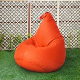 Кресло бескаркасное Груша Оранжевый, размер Компакт, оксфорд
