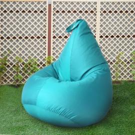 Кресло бескаркасное Груша Бирюза, размер Компакт, оксфорд