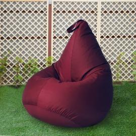 Кресло бескаркасное Груша Бордо, размер Компакт, оксфорд