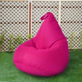 Кресло бескаркасное Груша Фуксия, размер Компакт, оксфорд