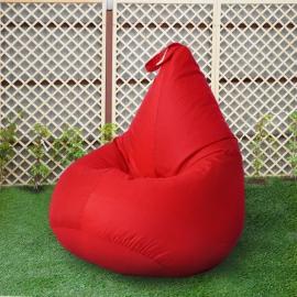 Кресло бескаркасное Груша Красный, размер Компакт, оксфорд