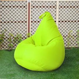 Кресло бескаркасное Груша Салатовый неон, размер Компакт, оксфорд