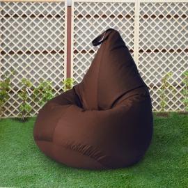 Кресло бескаркасное Груша Шоколад, размер Компакт, оксфорд