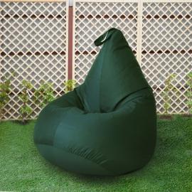 Кресло бескаркасное Груша Зеленый, размер Компакт, оксфорд