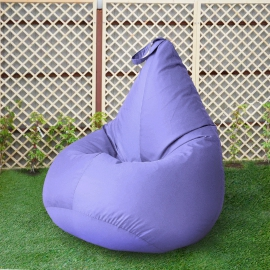 Кресло бескаркасное Груша Лаванда, размер Стандарт, оксфорд