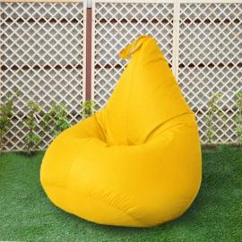 Кресло бескаркасное Груша Желтый, размер Стандарт, оксфорд