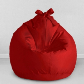 Кресло бескаркасное Мини-Груша Kids Красная, оксфорд
